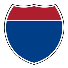 Blank interstate highway shield