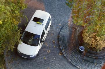 Taxi aus der Vogelperspektive