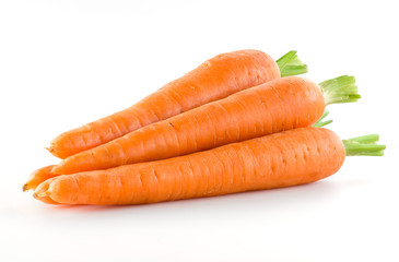 Carrot. Heap of vegetable isolated on white