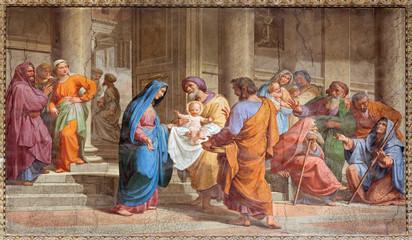 Rome - Presentation in Temple - in Basilica di Sant Agostino
