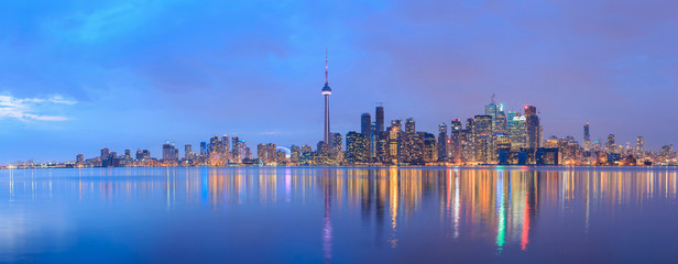 Scenic view at Toronto city waterfront skyline