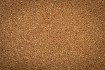 Close up brown cork board texture