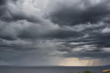 Dramatic Storm Clouds Rain