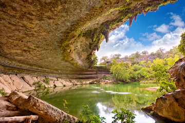 Hamilton Pool sink hole in Texas, United States