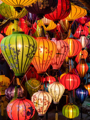 Traditional oil lamps in Hoi An, Vietnam