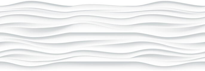 White wavy panel seamless texture background.