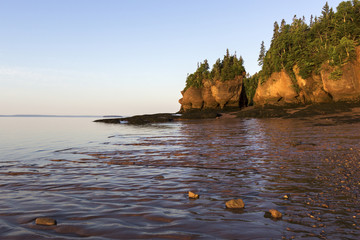 Hopewell Rocks in Canada at sunrise