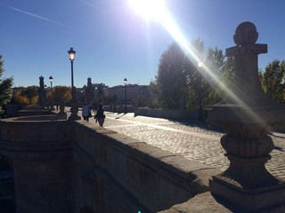 Puente de Toledo in Madrid (Spanien)
