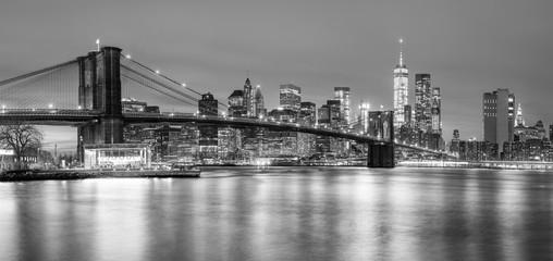 Panoramia of Brooklyn Bridge and Manhattan, New York City