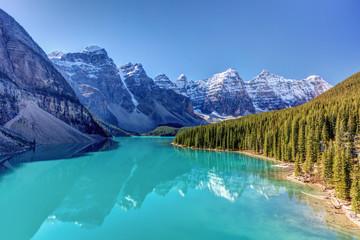 Turquoise splendor Moraine Lake in Banff National Park, Alberta, Canada