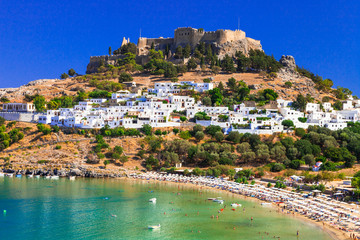 Rhodes island - famous for historic landmarks and beautiful beaches.Greece