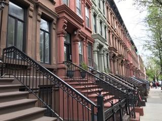 Harlem street view, Manhattan, NYC
