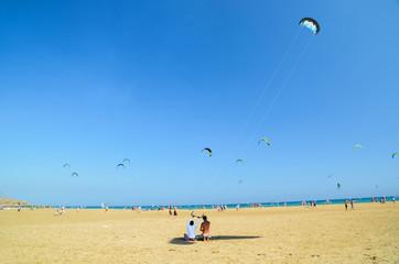 kite serfing in rhodes prassonisi greece