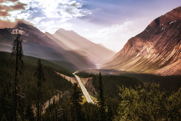 View from the Big Hill, Icefields Parkway