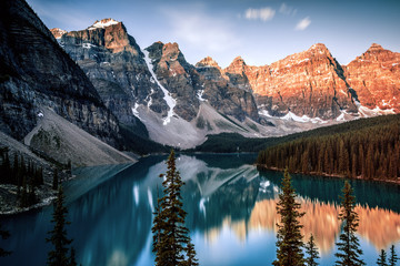 Morning from the Rock Pile at Moraine Lake