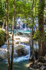 Erawan waterfalls in Kanchanaburi, Thailand