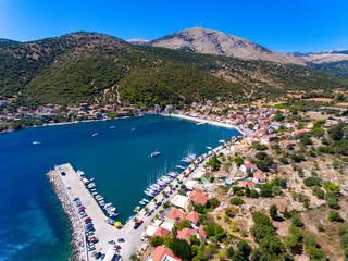 Cephalonia Island small port Agia Effimia yachts harbour