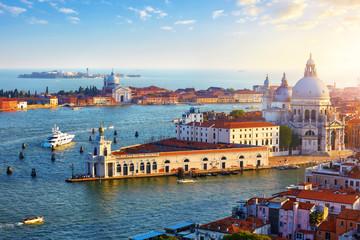 Venice Italy. Top view at Cathedral of Santa Maria della Salute