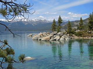 Beautiful nature scenes abound at Sand Harbor on Lake Tahoe.