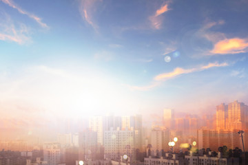 World Environment Day Concept: Air Pollution City