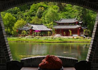 A scenery park in Lijiang