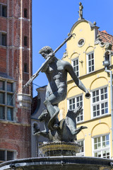 17th century Neptune's Fountain Statue at Long Market Street