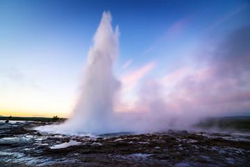 Strokkur geyser in Golden circle, Iceland