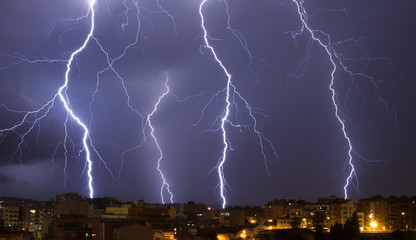 Big lightning storm at Granollers