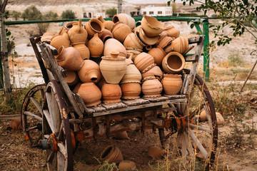 Turkish traditional clay pot decoration in Cappadocia