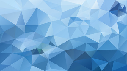 vector abstract irregular polygonal background - triangle low poly pattern - light sky blue color