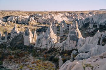 valley rocky hills in cappadocia