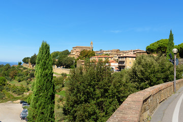View of city of Montalcino. Tuscany, Italy