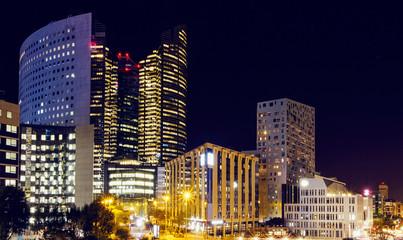 The city of Paris at night