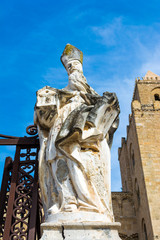 Sculpture at the Cathedral-Basilica of Cefalu, Sicily