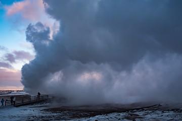 heiße Thermalquellen in Reykjanes, Island