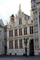 Bruges, Belgium. Stadhuis is the Bruges City Hall.