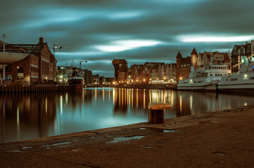 Panorama Gdańska, rzeka Motława