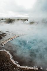 amazing Nordic landscape, Iceland. Hot water lake