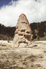 Yellowstone rock formation