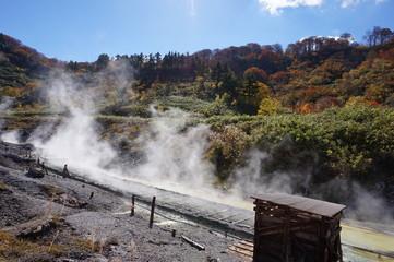 Tamagawa hot springs,Akita,Japan