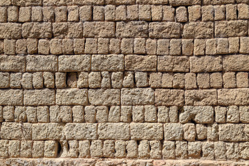 Earthen wall of ancient Chinese house, Shuhe old town ,Lijiang Yunnan , China