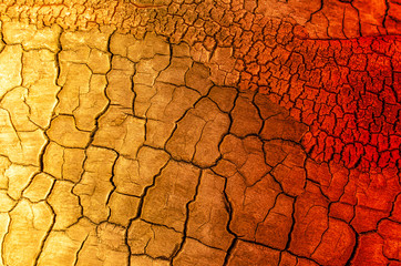 Background of cracked and scorched earth and sand.Concept, fire, drought, famine, global warming.