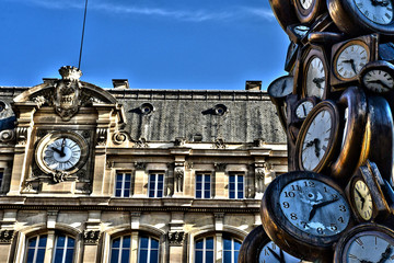 Paris; France - august 4 2018 : Paris Saint Lazare station