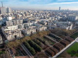 vue aérienne de Paris depuis un ballon
