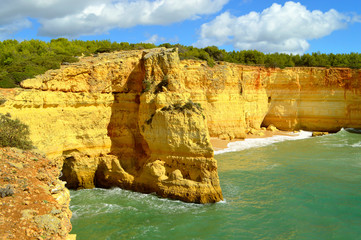 Benagil Beach on the Algarve coast