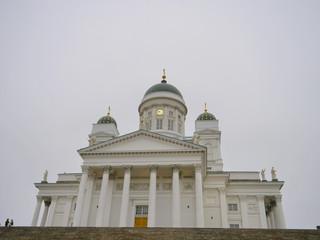 Famous travel spot Helsingin tuomiokirkko in Helsinki Finland