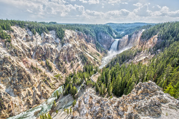 Grand Canyon of the Yellowstone and Yellowstone River
