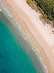 Beautiful white sand beach, Nacpan, Palawan