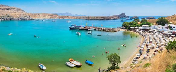 Lindos Bay. Rhodes, Greece
