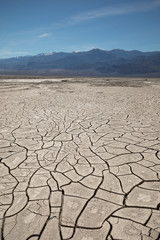 Death Valley Nation Park - Deep Dry Cracks on Desert Ground